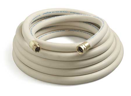 "1/2"" ID x 50 ft EPDM Coupled Washdown Hose 300 PSI WT"