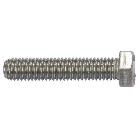 "1/4""-20 x 3"" Grade 18-8 (304) Plain Hex Head Cap Screw,  25 pk."