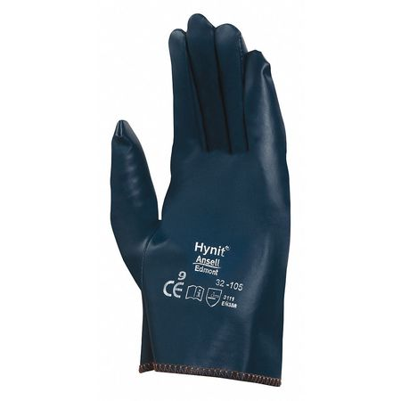 Canvas Gloves, Nitrile, S, Blue, PR