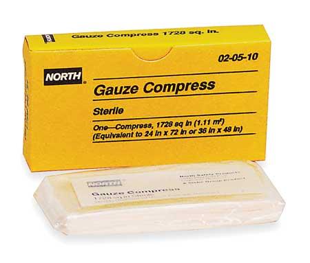 Gauze Compress,  Sterile,  White,  Unitized
