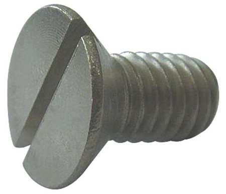 "1/4-20 x 5"" Flat Head Slotted Machine Screw,  10 pk."