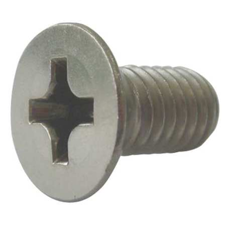"3/8-16 x 2"" Flat Head Phillips Machine Screw,  10 pk."