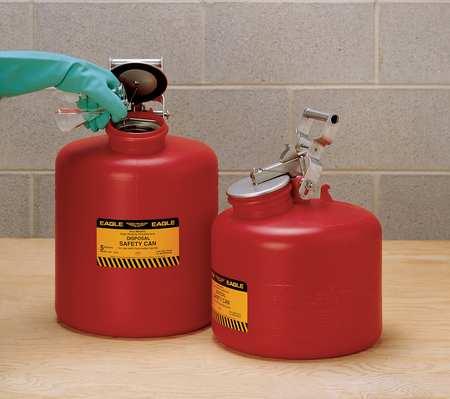 Disposal Can, 5 Gal., Red, Polyethylene