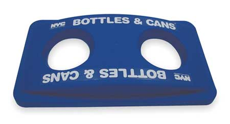 Bottle/Can Recycling Top, Plastic, Blue