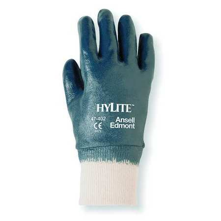 Coated Gloves, 9/L, Blue/White, PR