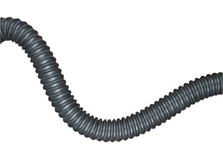 Exhaust Hose, 3-1/2 In. x 11 ft. L, Rubber