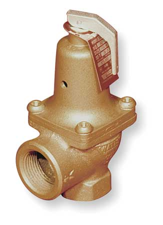 Safety Relief Valve, 1-1/4In, 30psi, Bronze