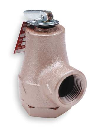 Safety Relief Valve, 3/4 In, 30 psi, Iron