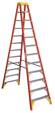 12' Fiberglass 300 lb. Twin Stepladder,  Type IA
