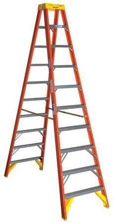 10' Fiberglass 300 lb. Twin Stepladder,  Type IA