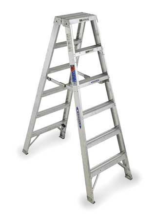 6' Aluminum 300 lb. Twin Stepladder,  Type IA