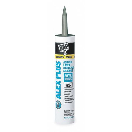Caulks and Sealants- ALEX PLUS- Acrylic Latex Caulk Plus Silicone