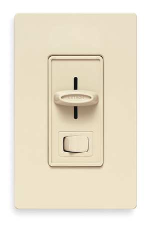 Lighting Dimmer, Slide, 600VA, 120V, Ivory