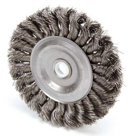 Twist Wire Wheel Wire Brush,  Arbor,  4""