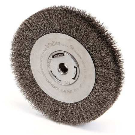 Crimped Wire Wheel Wire Brush,  Arbor,  8""