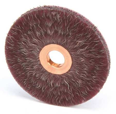 Encapsulated Wire Wheel Wire Brush,  Arbor
