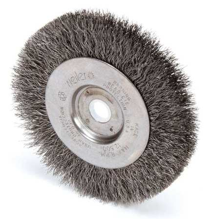 "Wire Wheel Wire Brush,  Crimped Wire,  4"" Dia."
