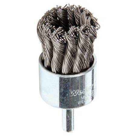 Knot Wire End Wire Brush,  Steel,  1-1/8""