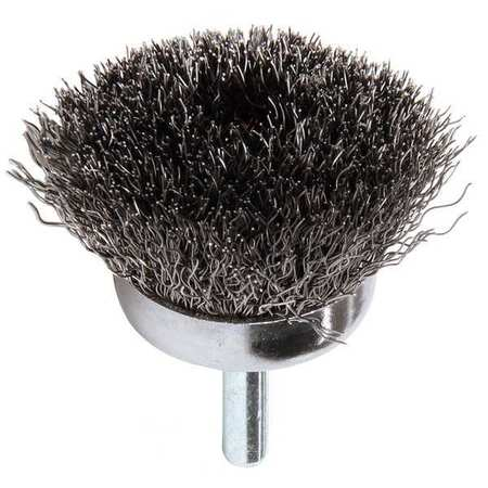 Crimped Wire Cup Brush, Stem, 1-3/4 In.