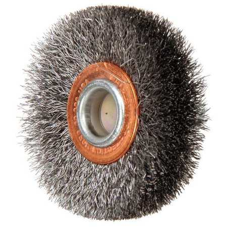 Crimped Wire Wheel Wire Brush,  Stem,  2""