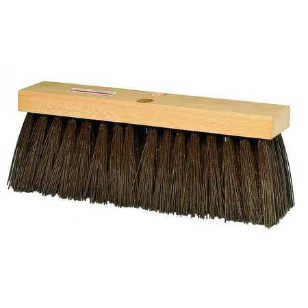 TOUGH GUY Brown Polypropylene Heavy Duty Push Broom