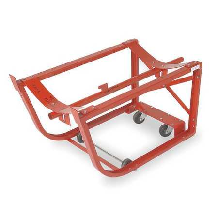 Drum Cradle, Cap 600 Lb, 2 Swivel Casters