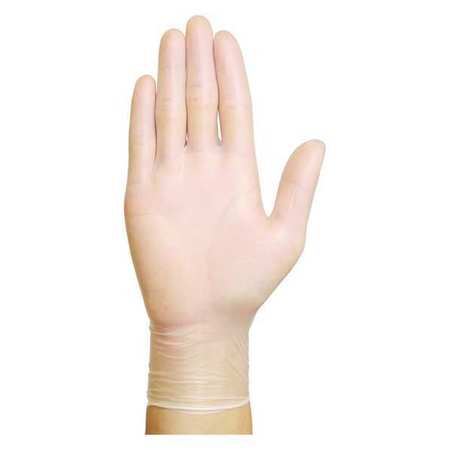 Disposable Gloves, Vinyl, L, Clear, PK100
