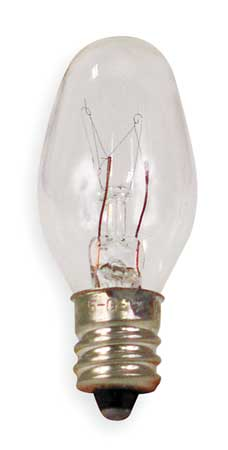 GE LIGHTING 4.0W,  C7 Incandescent Light Bulb