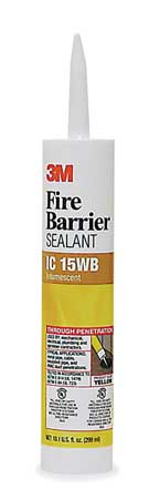 Fire Barrier Sealant, 10.1 oz., Yellow