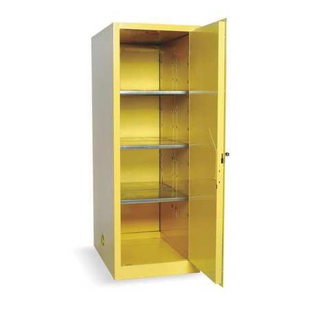 Flammable Safety Cabinet, 48 Gal., Yellow