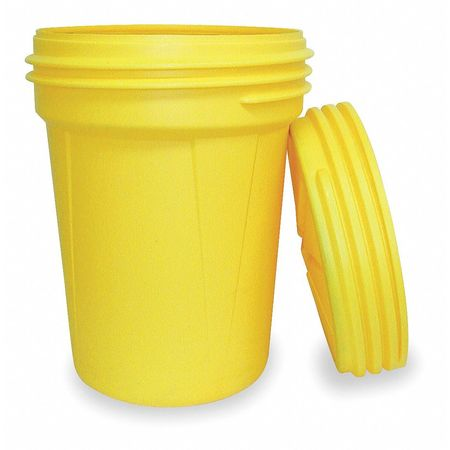 Salvage Drum, Open Head, 30 gal., Yellow