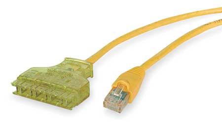 Patch Cord, Cat 6, Yellow, 3 ft.