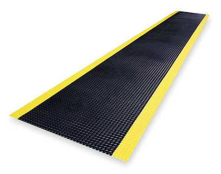 Switchboard Mat, Black, YllwBrdr, 3ftx75ft