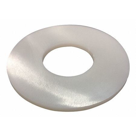 M6 x 12 mm OD Plain Finish Not Graded Nylon Flat Washers,  50 pk.
