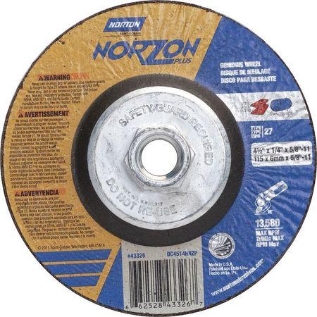 Depressed Ctr Wheel, T27, 4-1/2in, 5/8in-11