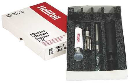 Thread Repair Kit, 304 SS, 5/8-11, 6 Pcs