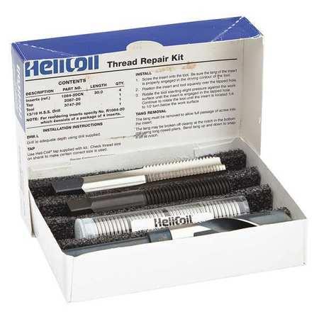 Thread Repair Kit, 304 SS, M20X2.5, 4 Pcs