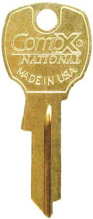 Key Blank, For 4DED5, Bright Brass