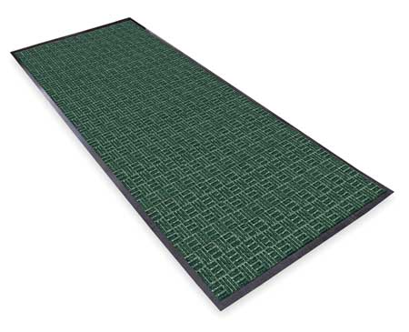 Carpeted Entrance Mat, Hunter Green, 4x6ft