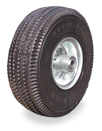 4DE48 Never Flat Wheel, 10 in. Dia., 350 lb.