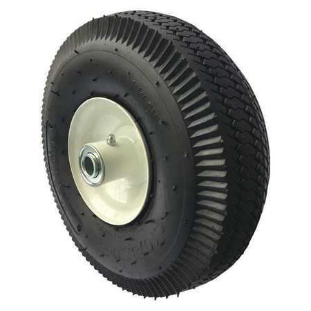 Tubed Pneumatic Wheel, 10 in. Dia, 350 lb.