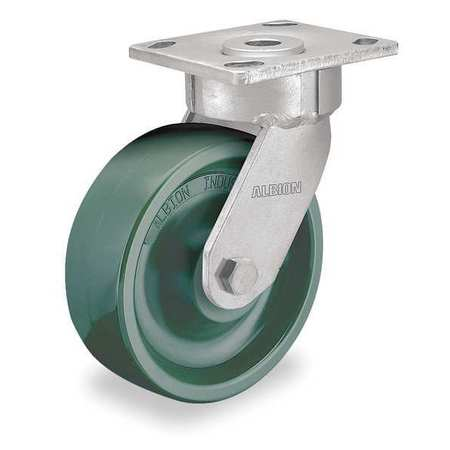 Swivel Plate Caster, 6 in. Dia., 1000 lb.
