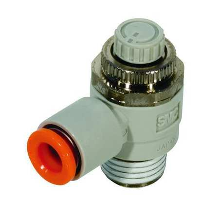 Speed Control Valve, 1/4 In Tube, 3/8 In
