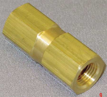 "1/8"" FNPT Brass Piston Spring Check Valve"