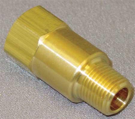 Piston Spring Check Valve, Brass, 1/8 In.