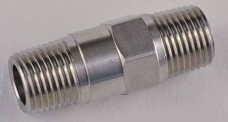 "1/8"" FNPT x MNPT Stainless Steel Piston Spring Check Valve"