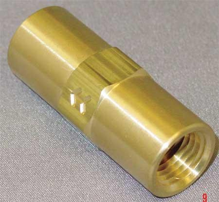 """1/4"""" FNPT Brass Piston Spring Check Valve"""