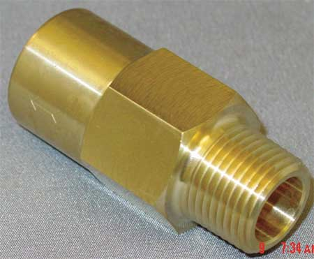 "3/8"" MNPT x FNPT Brass Piston Spring Check Valve"