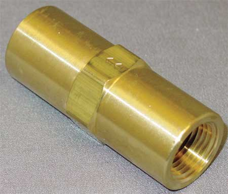 "3/8"" FNPT Brass Piston Spring Check Valve"