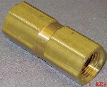 """1/2"""" FNPT Brass Piston Spring Check Valve"""